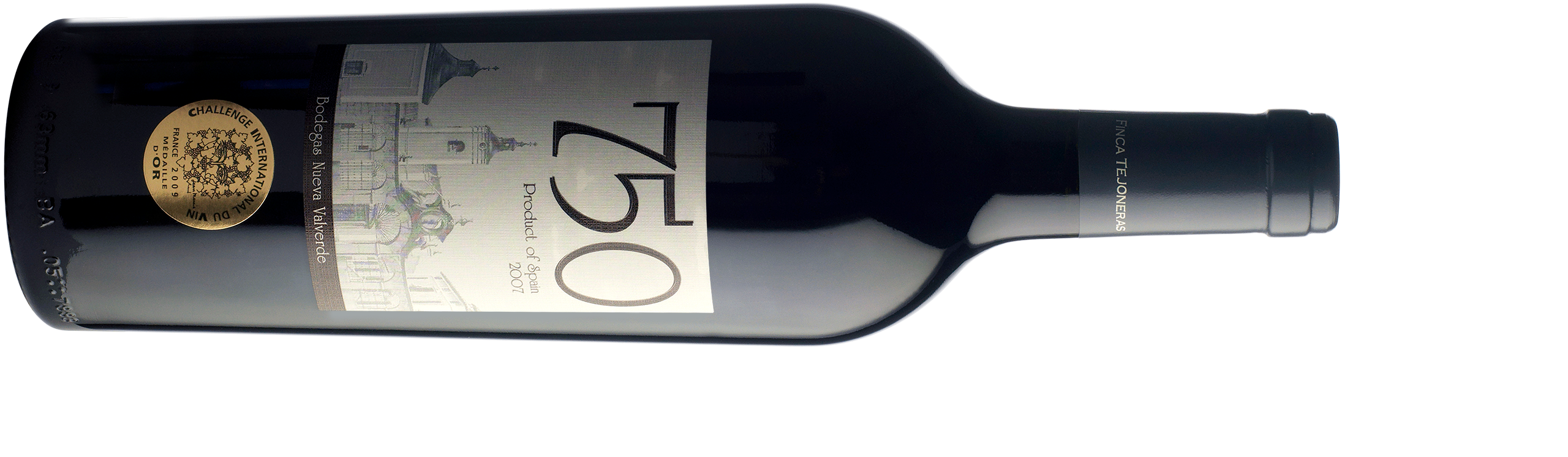 Bottle of 750 in horizontal position